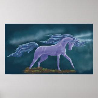 Poster Cheval de tempête