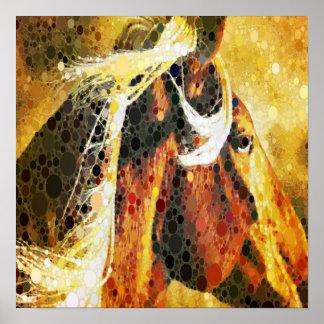 Poster Cheval équestre abstrait de pays occidental