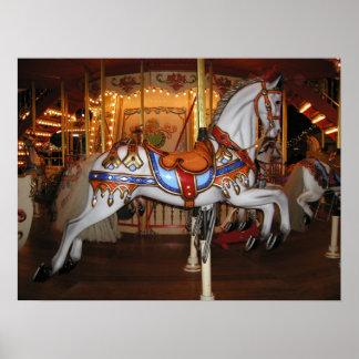 Poster Cheval vintage 001 de carrousel 01