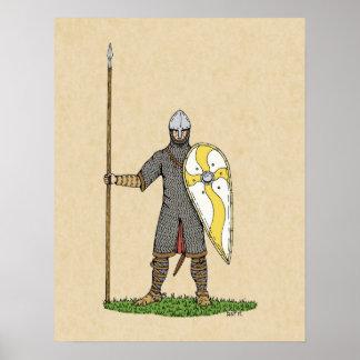 Poster Chevalier normand, Circa 1066