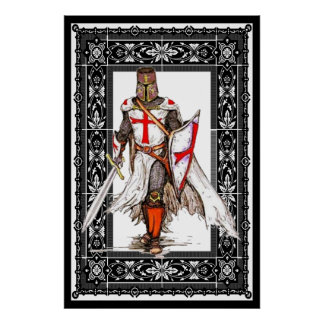 Poster chevalier templar en affiche d'armure