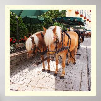 Poster Chevaux et chariots