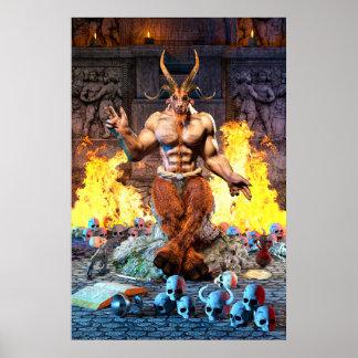 Poster Chèvre sabbatique Baphomet satanique