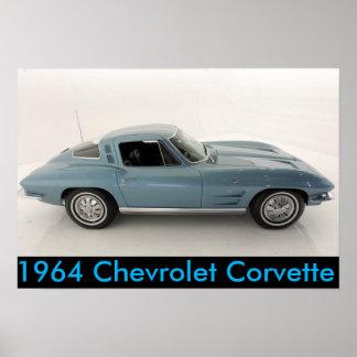 Poster Chevrolet Corvette 1964