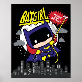 Poster Chibi Batgirl prêt pour l'action