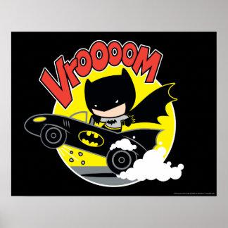 Poster Chibi Batman dans le Batmobile