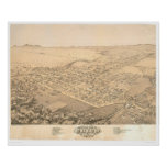 Poster Chico, carte panoramique 1871 (0272A) de CA