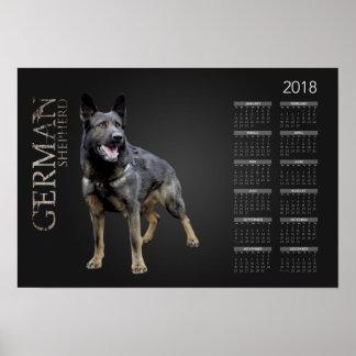 Poster Chien de berger allemand de travail - calendrier