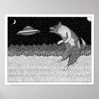 Poster Chien de disque de vol