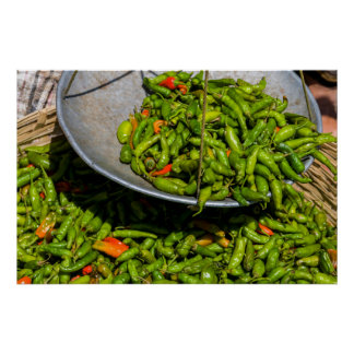 Poster Chilis au marché à vendre