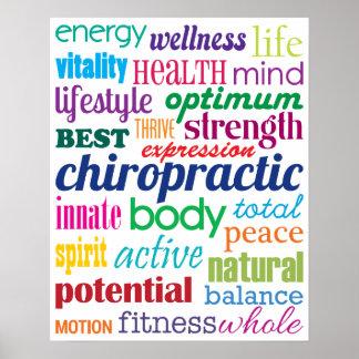 Poster Chiropractie de motivation colorée de collage de