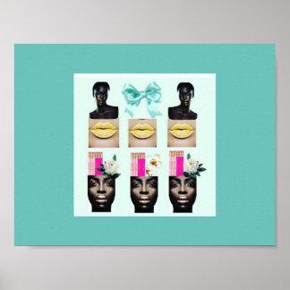 """Poster """"Chocolat, citron, et menthe"""" par Miriam Havard"""