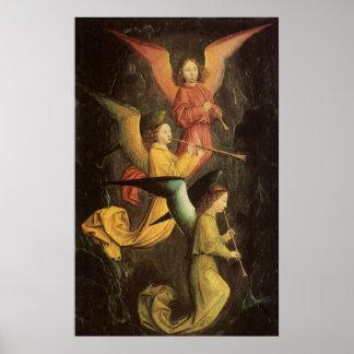 Poster Choeur des anges par Simon Marmion, art de