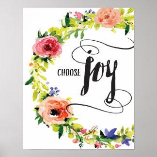 Poster Choisissez la copie d'art de joie