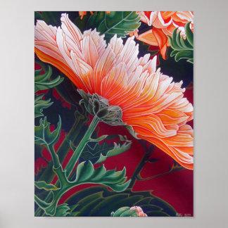 Poster Chrysanthème - affiche