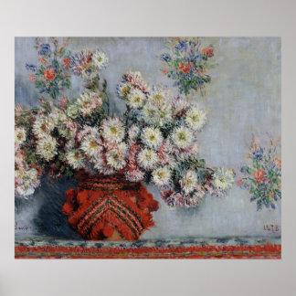 Poster Chrysanthèmes de Claude Monet |, 1878