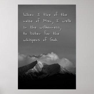 Poster Chuchotements de Dieu