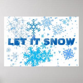 Poster Chutes de neige de Noël