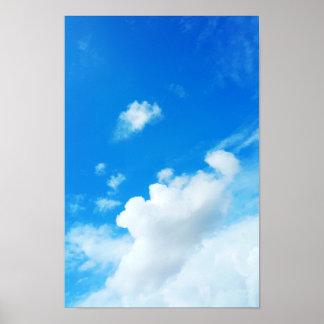 Poster Ciel bleu avec la photo de nuages