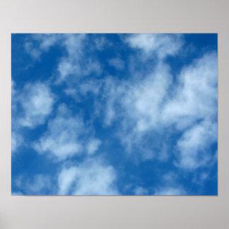 Poster Ciel bleu avec l'affiche de photo de nuages
