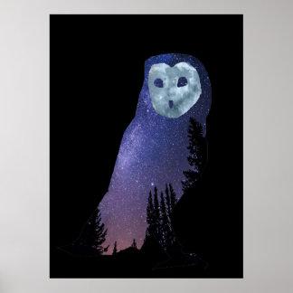 Poster Ciel nocturne de hibou