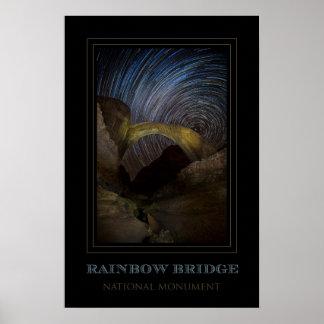 Poster Ciel nocturne de monument national de pont en