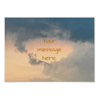 Poster Ciel ouvrant le centre lumineux vos affiches de