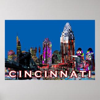 Poster Cincinnati dans le graffiti