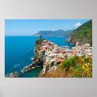 Poster Cinque Terre en Riviera italienne