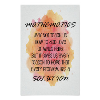 Poster Citation - affiches de maths