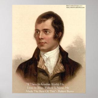 Poster Citation célèbre de Robert Burns