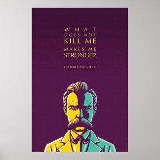 Poster Citation de Friedrich Nietzsche : Ce qui ne me tue