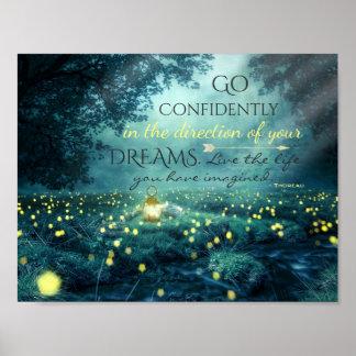 Poster Citation de inspiration lunatique de rêves