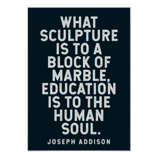 Poster Citation de Joseph Addison sur l'éducation