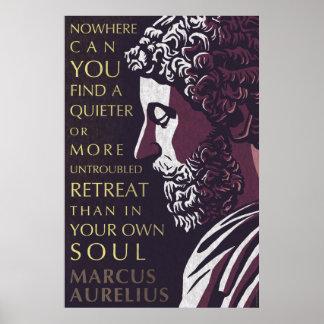 Poster Citation de Marcus Aurelius : Un plus calme ou