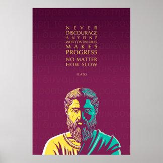 Poster Citation de Platon : Progrès