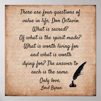 Poster Citation de seigneur Byron ** copie de l'art 12