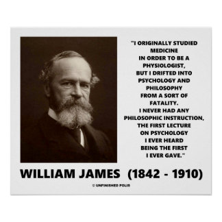 Poster Citation de William James de philosophie de