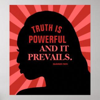 """Poster Citation d'éducation par la vérité 18"""" de"""