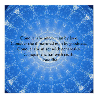 Poster Citation inspirée de motivation de Bouddha