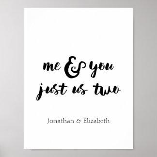 Poster Citation, moi et vous de Valentine juste nous