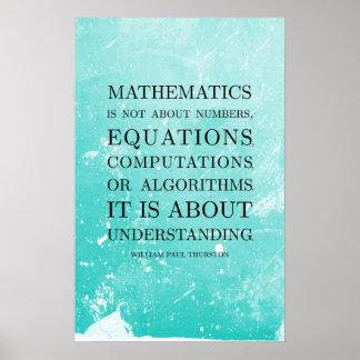 Poster Citation par Thurston - affiches de maths