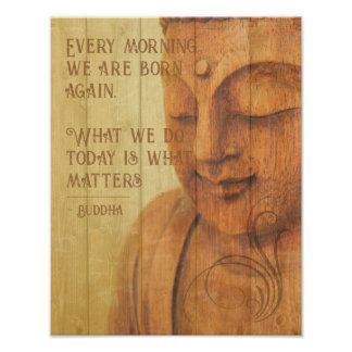 Poster Citation positive de Mindfulness de bouddhisme