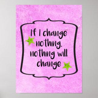 Poster Citation positive d'inspiration de motivation de