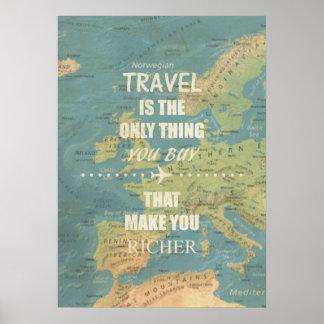 Poster Citations de inspiration d'un voyage