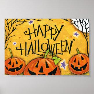 Poster Citrouilles heureux de Halloween