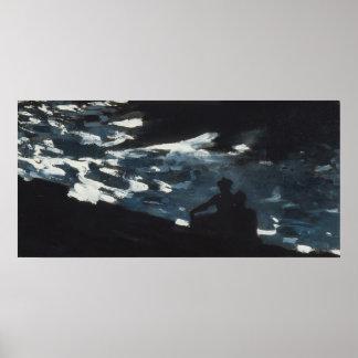 Poster Clair de lune sur l'eau