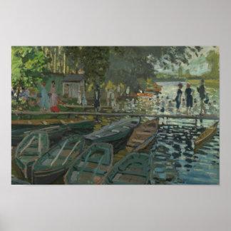 Poster Claude Monet - baigneurs à la La Grenouillere