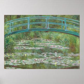 Poster Claude Monet | la passerelle japonaise, 1899
