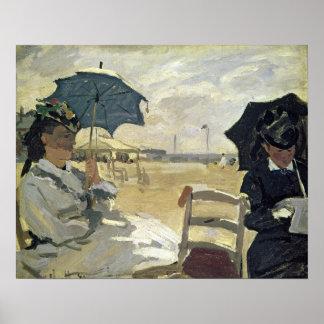 Poster Claude Monet | la plage chez Trouville, 1870